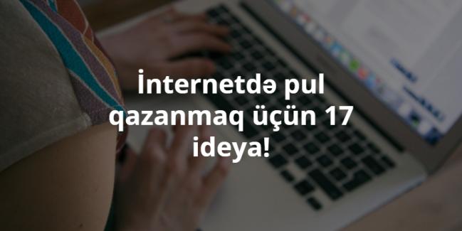 internet, pul, ideya.qazanmaq