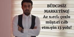 budcesiz marketinq, marketinq, az xercle marketinq